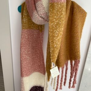 Multicolored Fleece Scarf